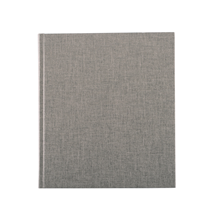 Carnet en toile, pebble grey