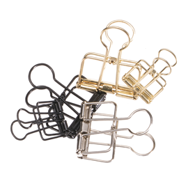 Wire clip; Black, Gold or Silver