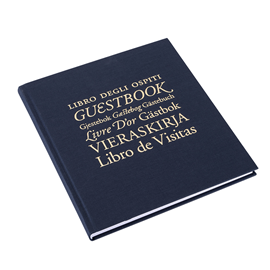 N. book 210*240 Iris smoke blue unlined Guests&Friends Gold embossing