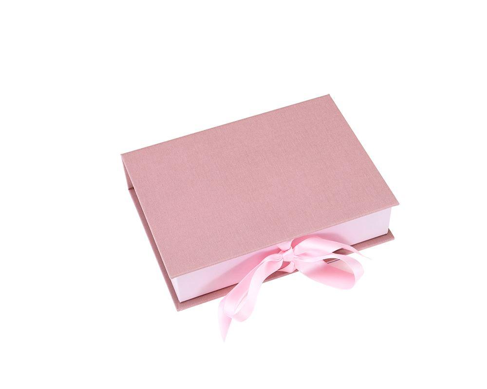 Box A5 w/ ribbon Dusty Pink