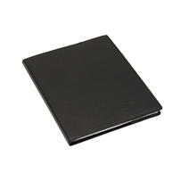 N. book 170*200 leather cover Black with refill lined