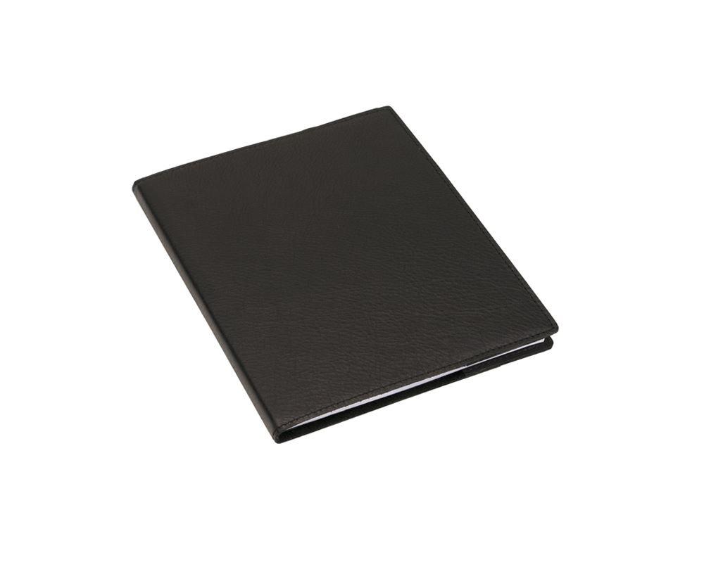 Skrivblock 170*200 med läderomslag Svart