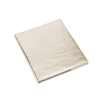 Notebook leather cover, guld