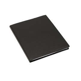 Notebook, Lined leather cover 170*200 Black