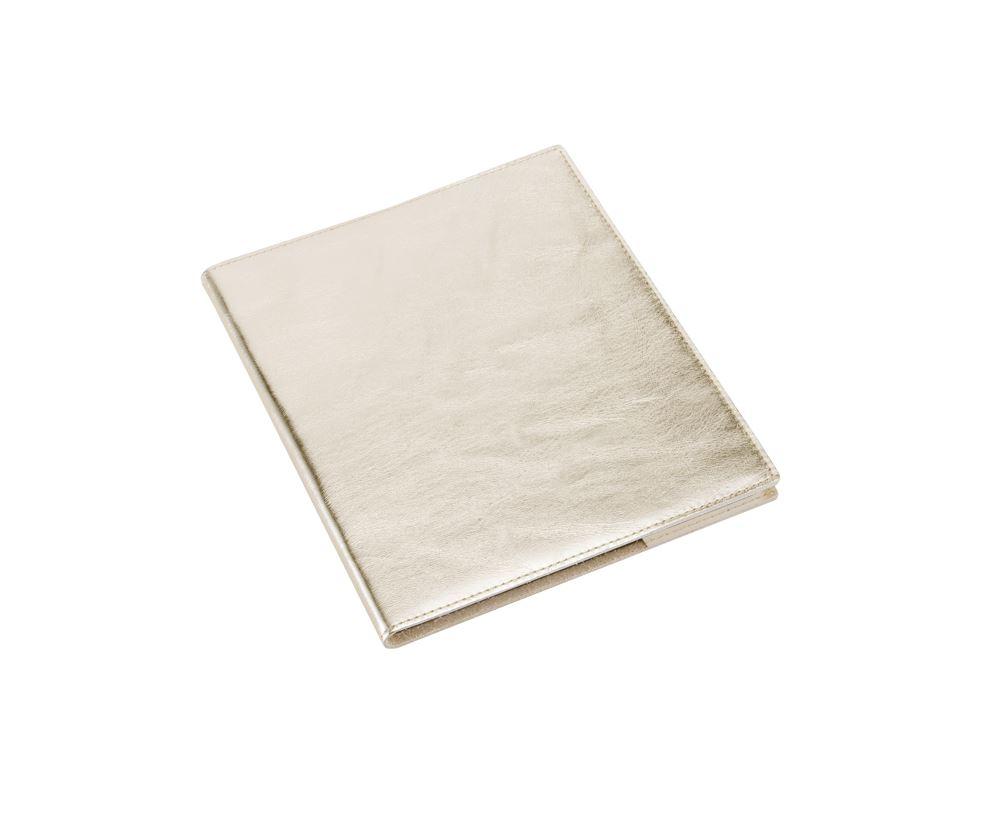 Notizbuch mit Ledereinband, Gold