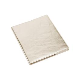 Skrivblock 170*200 Olinjerat med läderomslag Guld