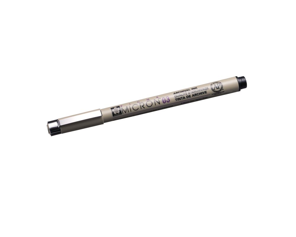 Micron pen no 03 black