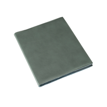 N. book 170x200 leather cover Dusty green with refill lined