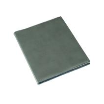 Skrivblock 170*200 Olinjerat med läderomslag Dusty Green