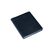 Notebook leather cover, Navy