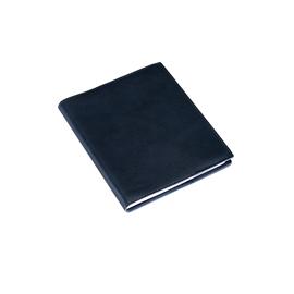 Skrivblock, olinjerat A6+ med läderomslag Mörkblå