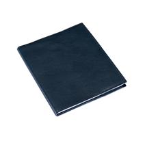Skrivblock 170*200 Olinjerat med läderomslag Mörkblå