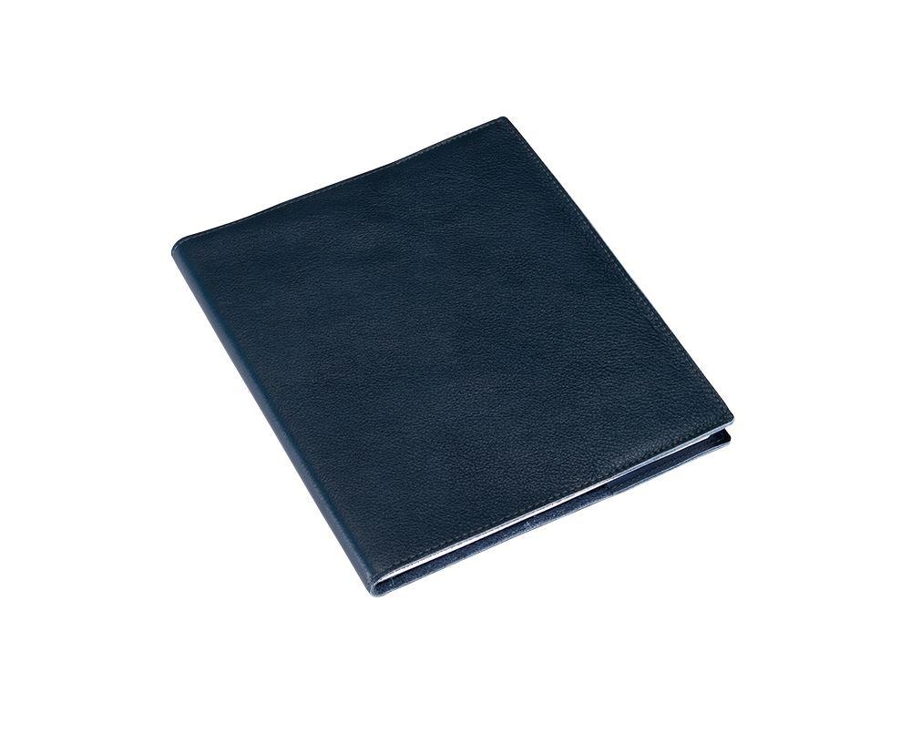 Bokomslag i Läder, Mörkblå