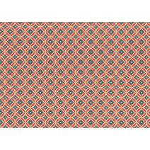 Carta Varese Blumenornament röd/blå