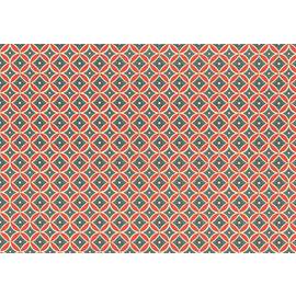 Carta Varese Blumenornament red/blue