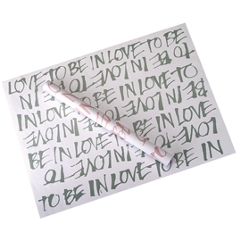 """Gift wrapping paper """"Love"""" Green"""