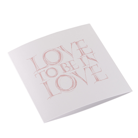 Folded card 148x148 Love to be in love