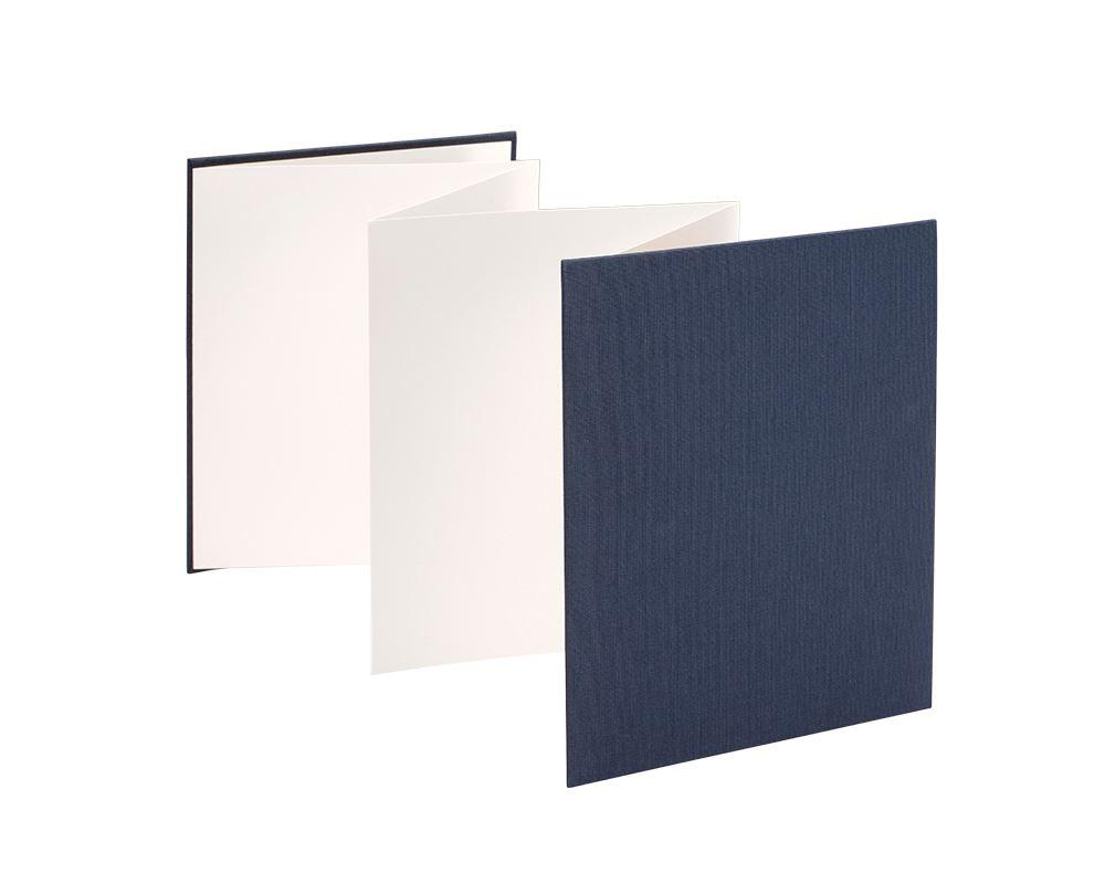 Vävklätt Dragspelsalbum, Mörkblå