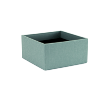 VÄVKLÄDD ADRESSBOX, DUSTY GREEN