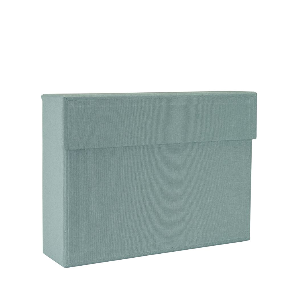 Vävklädd Arkivbox, Dusty green