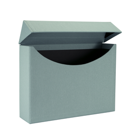 Filing box A4 cloth Ottawa dusty green