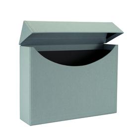 Vävklädd Arkivbox, Dimgrön