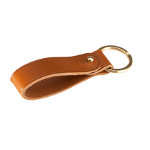 Key ring 90 mm Gold ring Cognac