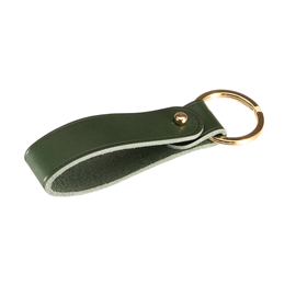 Porte-clefs, cuir Gold/Dark Green
