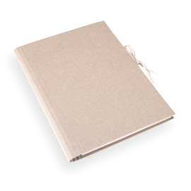 Accordion folder 280x375 cloth Sand brown