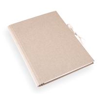 Accordion folder 280x375 cloth Sand brown