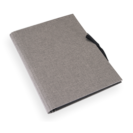 Accordion folder 280x375 cloth Pebble grey