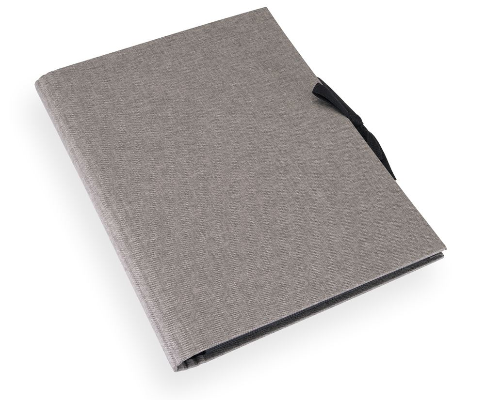 Accordion folder 280*375 cloth Record light grey