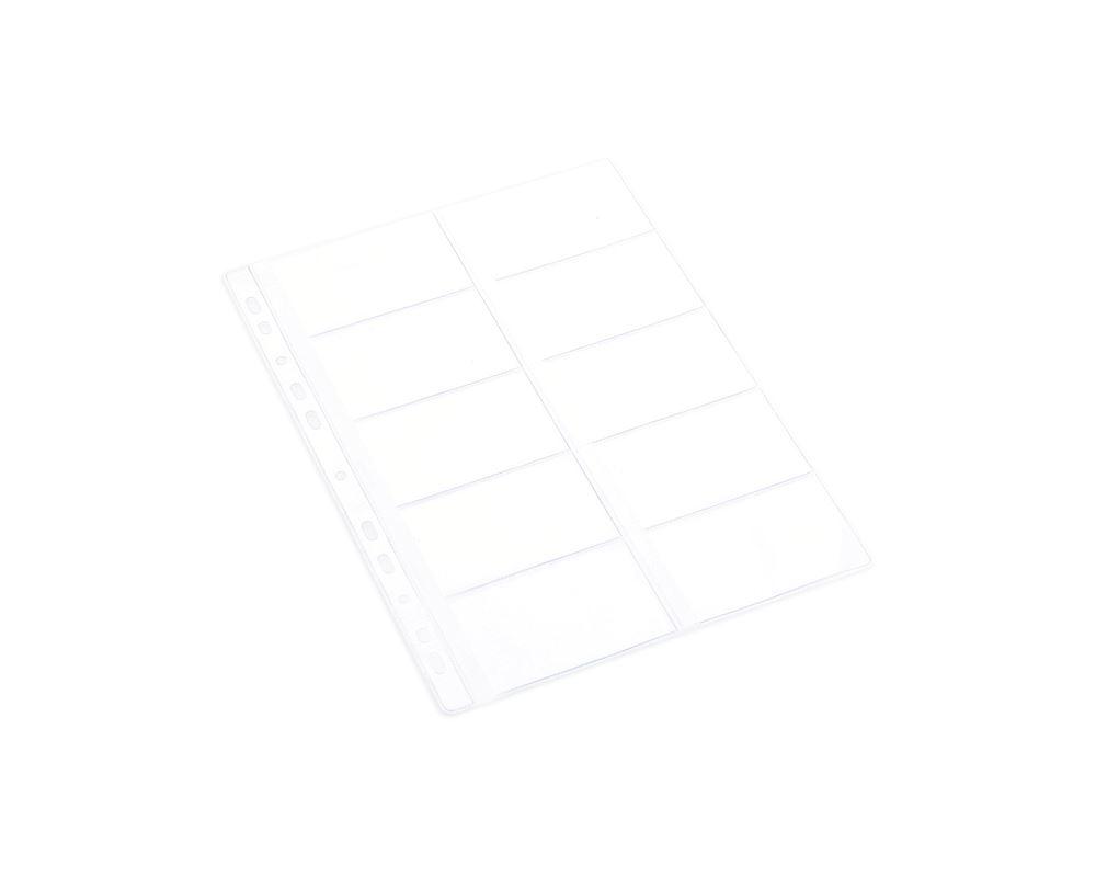Pocket A4 plastic businesscard 10 pcs
