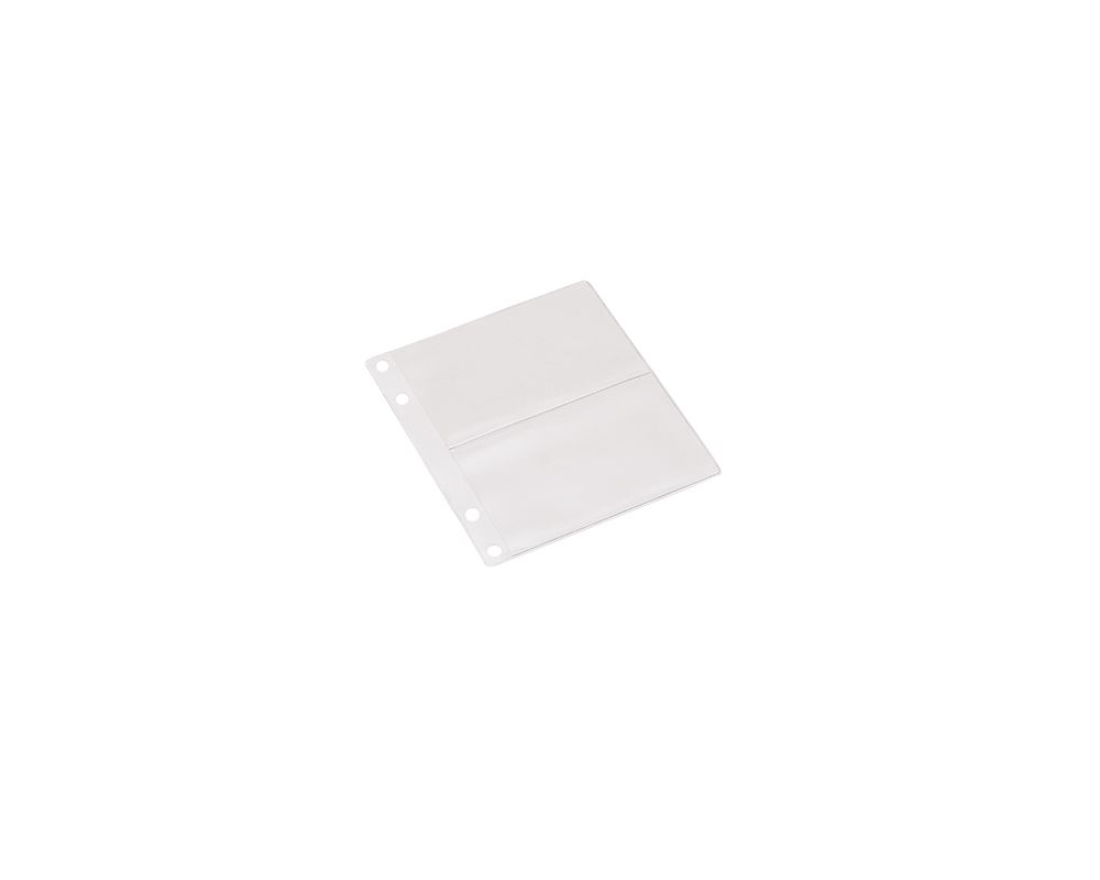 Pocket A6 plastic trio businesscard 2 pockets 10 pcs