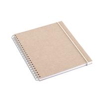 Notizbuch mit Ringbindung, Sand brown