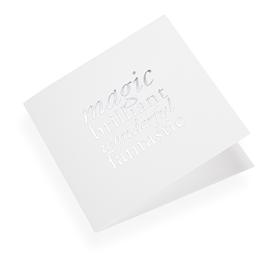 Cotton paper card, Magic Brilliant...in Silver