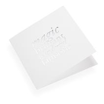 Faltkarte aus Baumwollpapier, Magic Brilliant...in Silver
