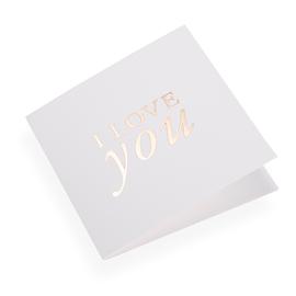 Folded card 145x145 I love you Gold 10 pcs