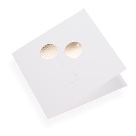 Faltkarte aus Baumwollpapier, Balloons in Gold