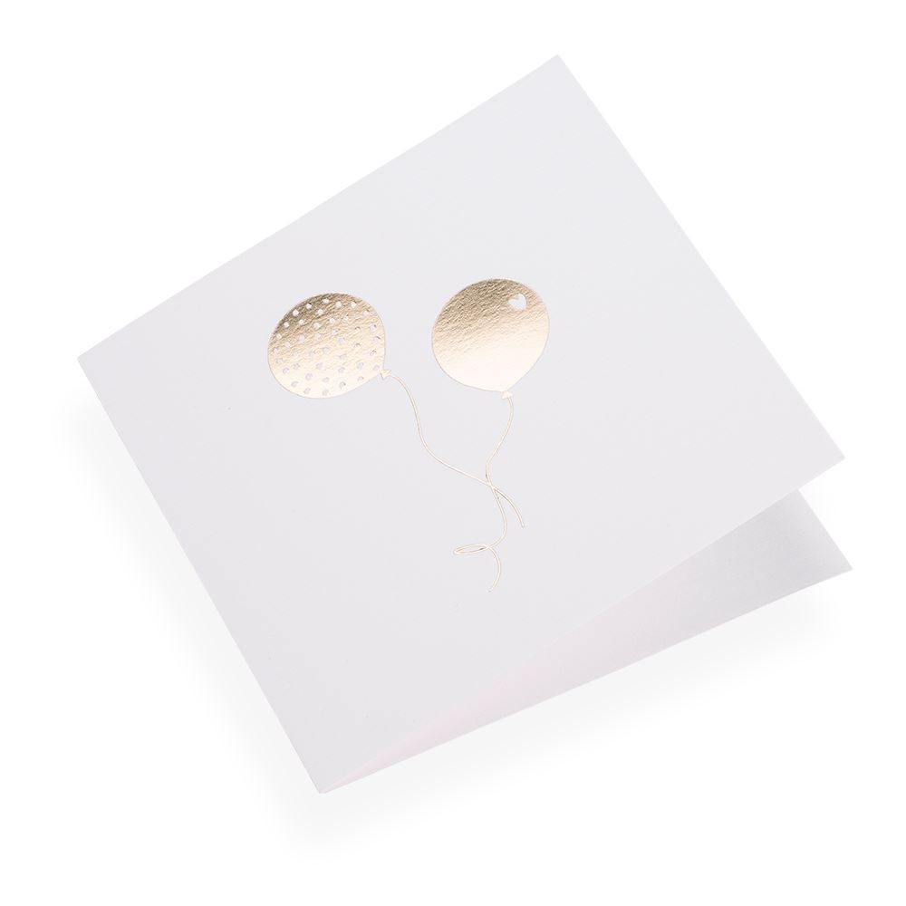 Folded card 145*145 Balloons  Gold 10 pcs