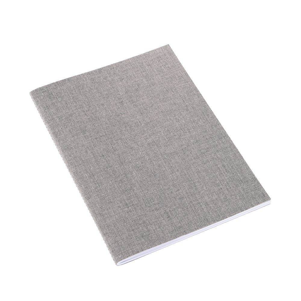 NOTEBOOK STITCHED, LIGHT GREY