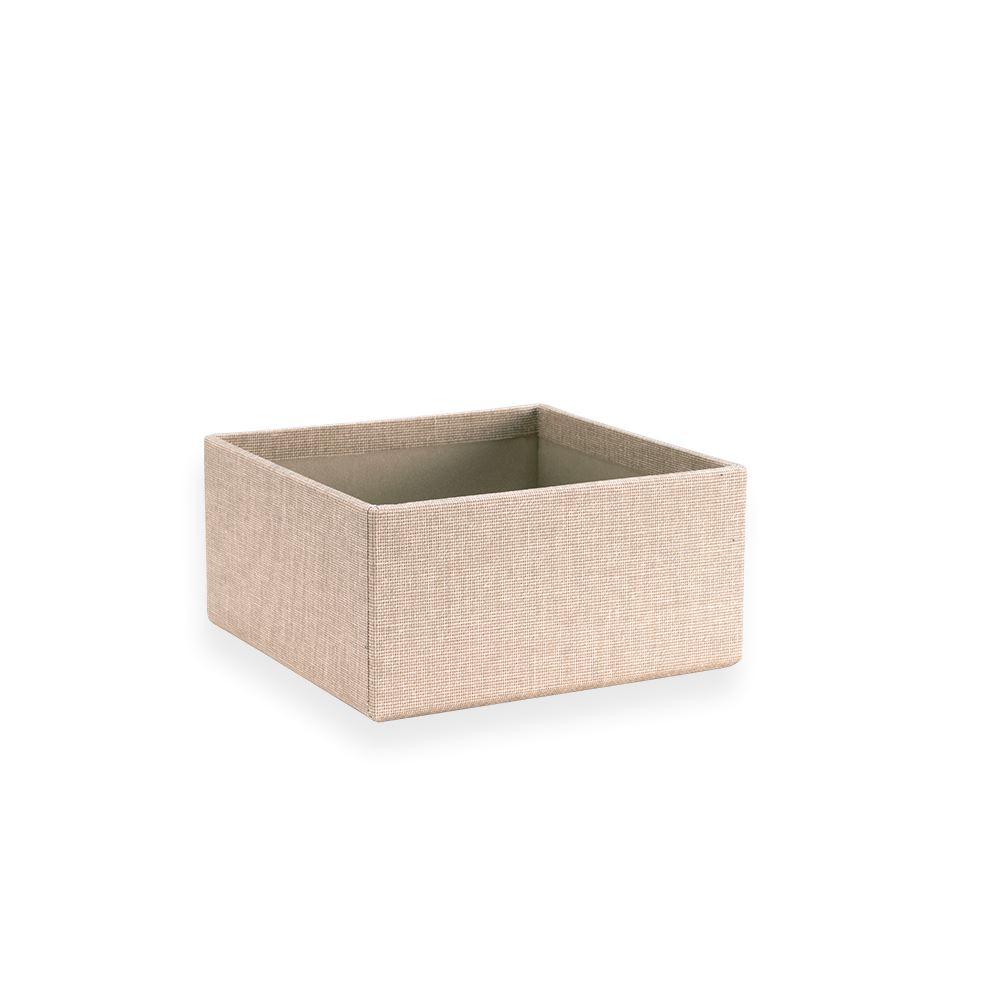 Petite boîte carrée ouverte, Sand Brown