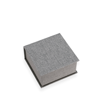 Box with lid, pebble grey