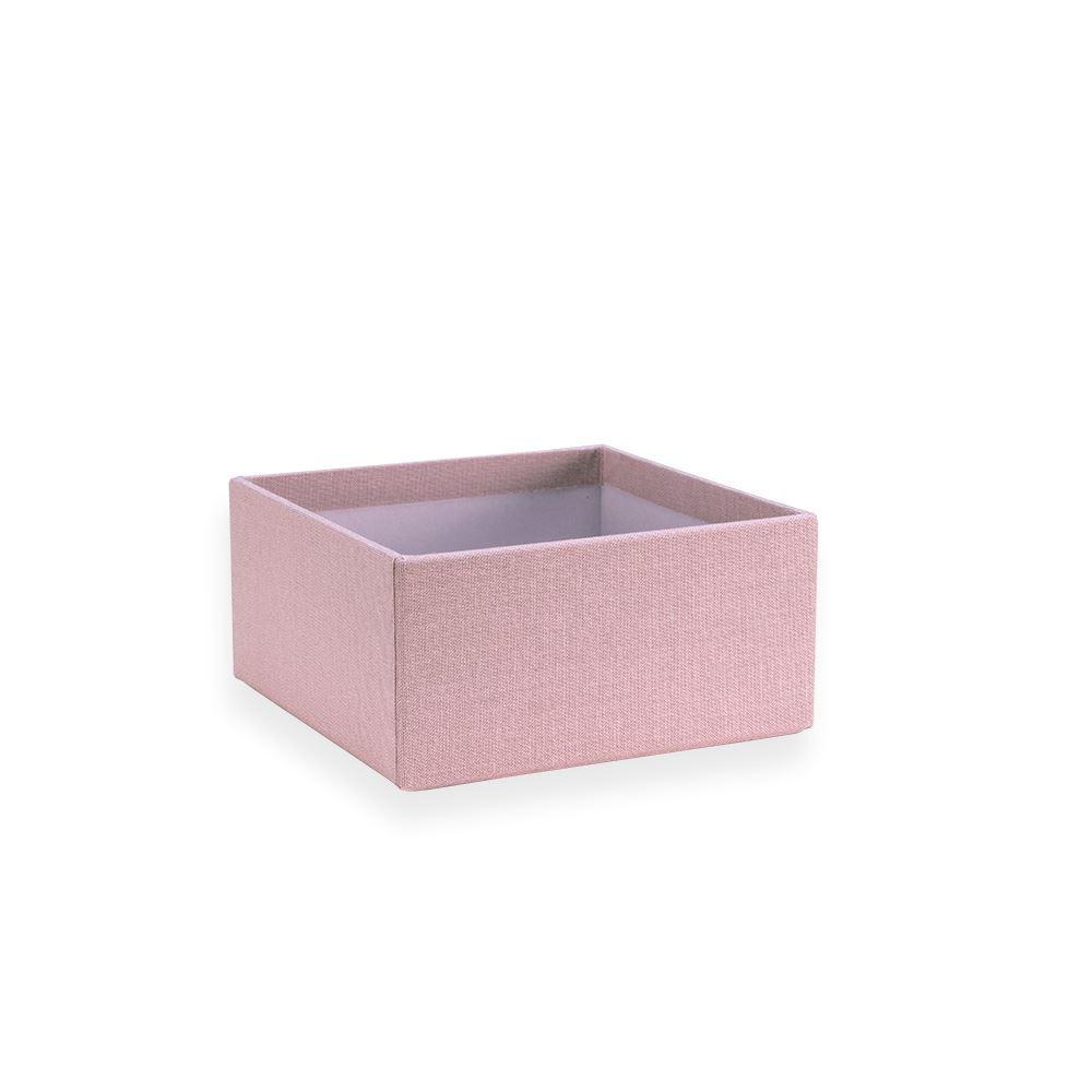 Petite boîte carrée ouverte, Dusty Pink