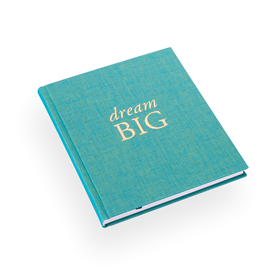 "Notebook ""Dream big"" Turquoise"
