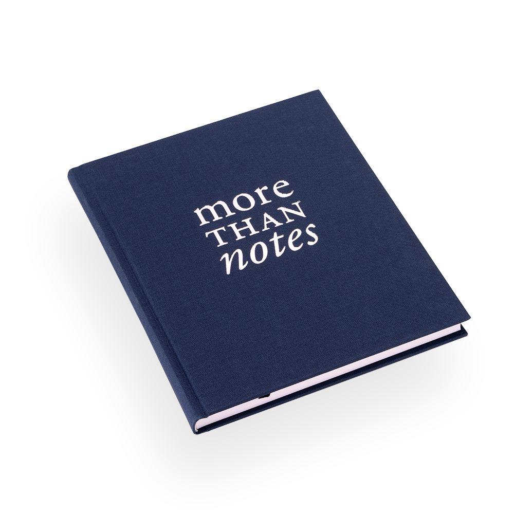 """Skrivbok """"More than notes"""" mörkblå"""