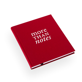 Inbunden anteckningsbok, Rosenröd