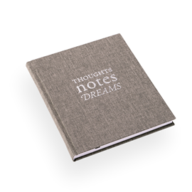 "Notebook ""Thoughts notes dreams"" Light Grey"