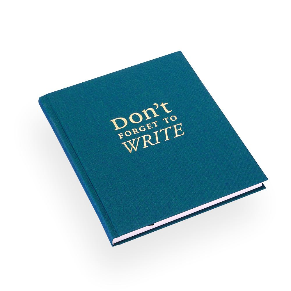 "Skrivbok""Dont forget to write"" smaragd"