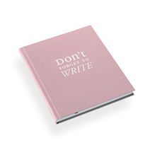 "Notebook""Dont forget to write"" Pink"